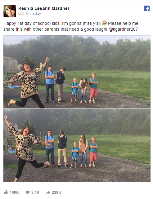Mom's back to school photos go viral