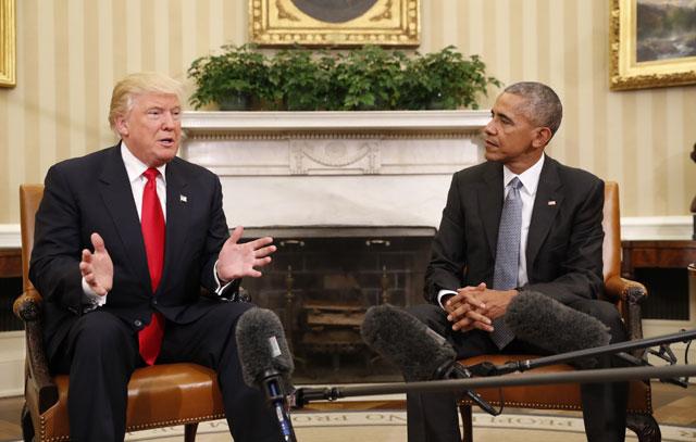 Donald Trump and Barack Obama_323795