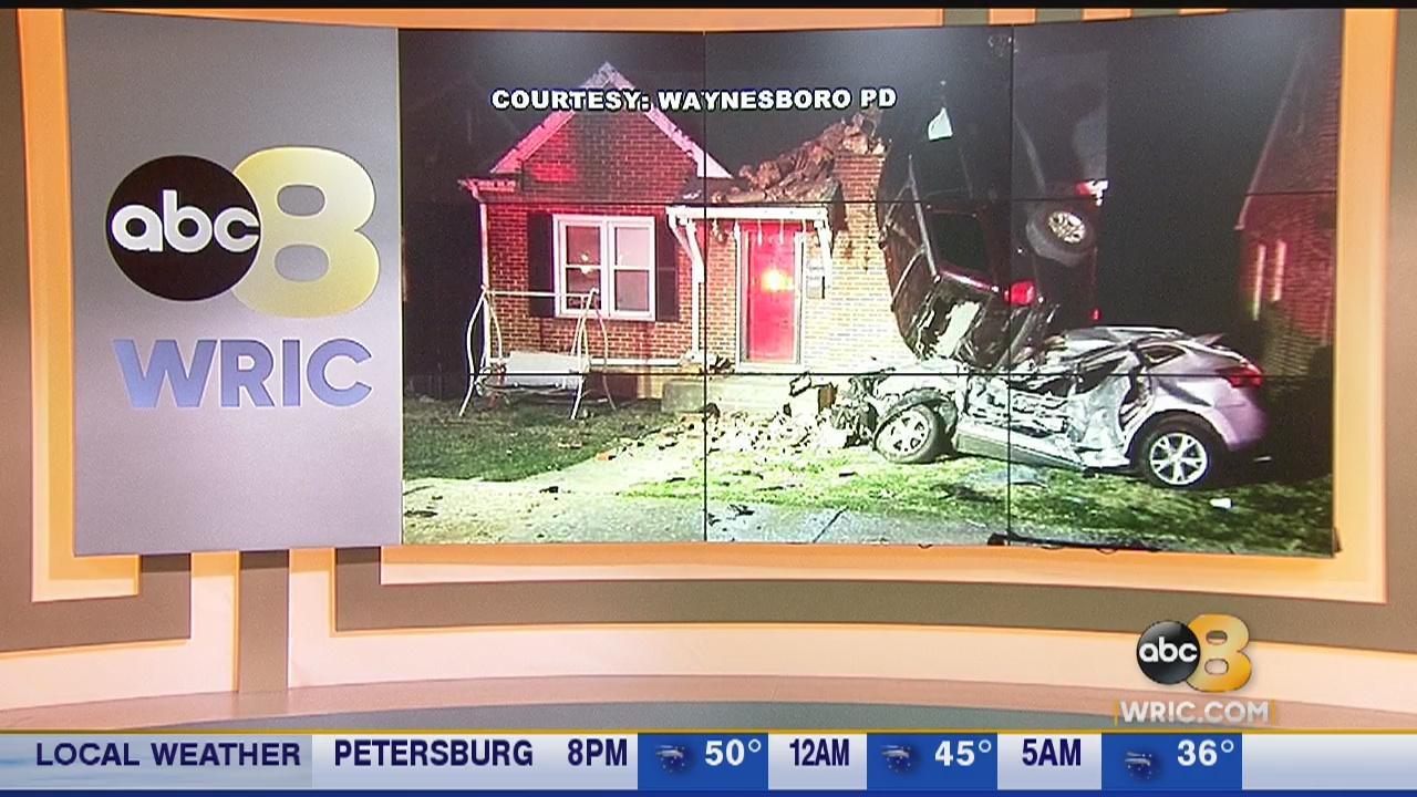 Driver hospitalized after crazy crash in Waynesboro, Va