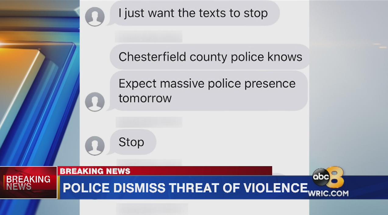Police: No valid threat towards Clover Hill High School