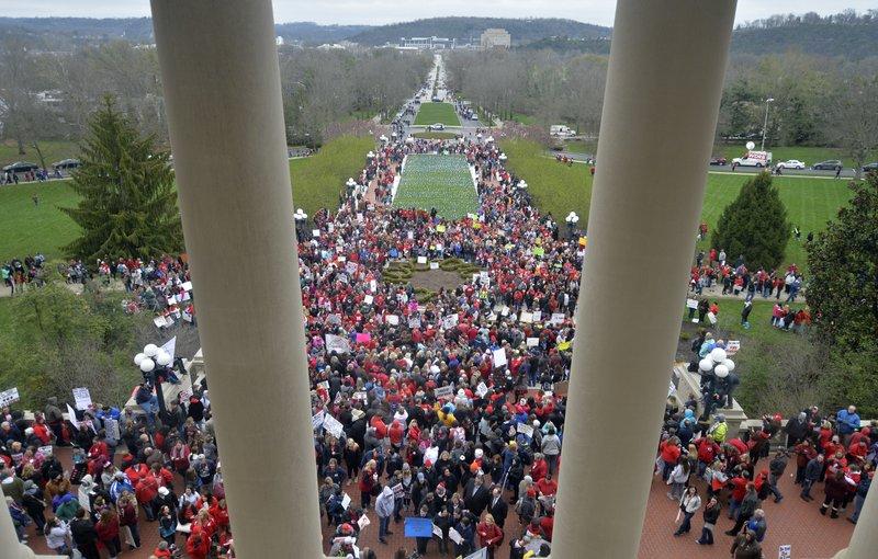 Kentucky, Oklahoma teachers rally as rebellion grows