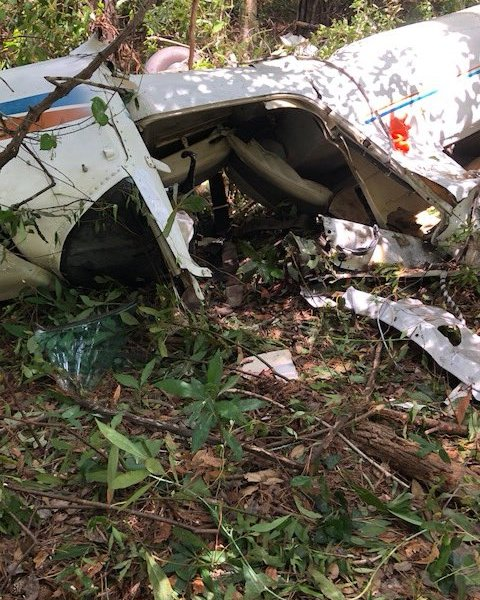 plane crash wreckage