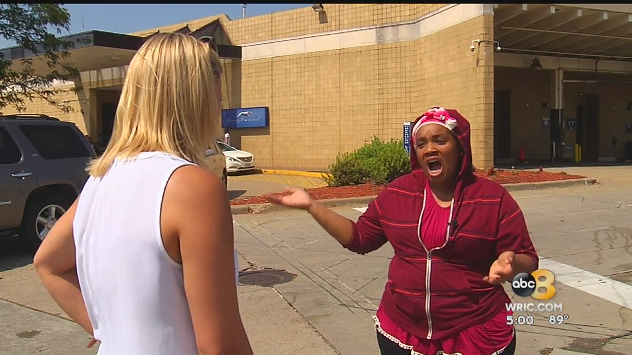 Several hundred would-be travelers were stranded at the Greyhound station on Boulevard in Richmond Friday morning.