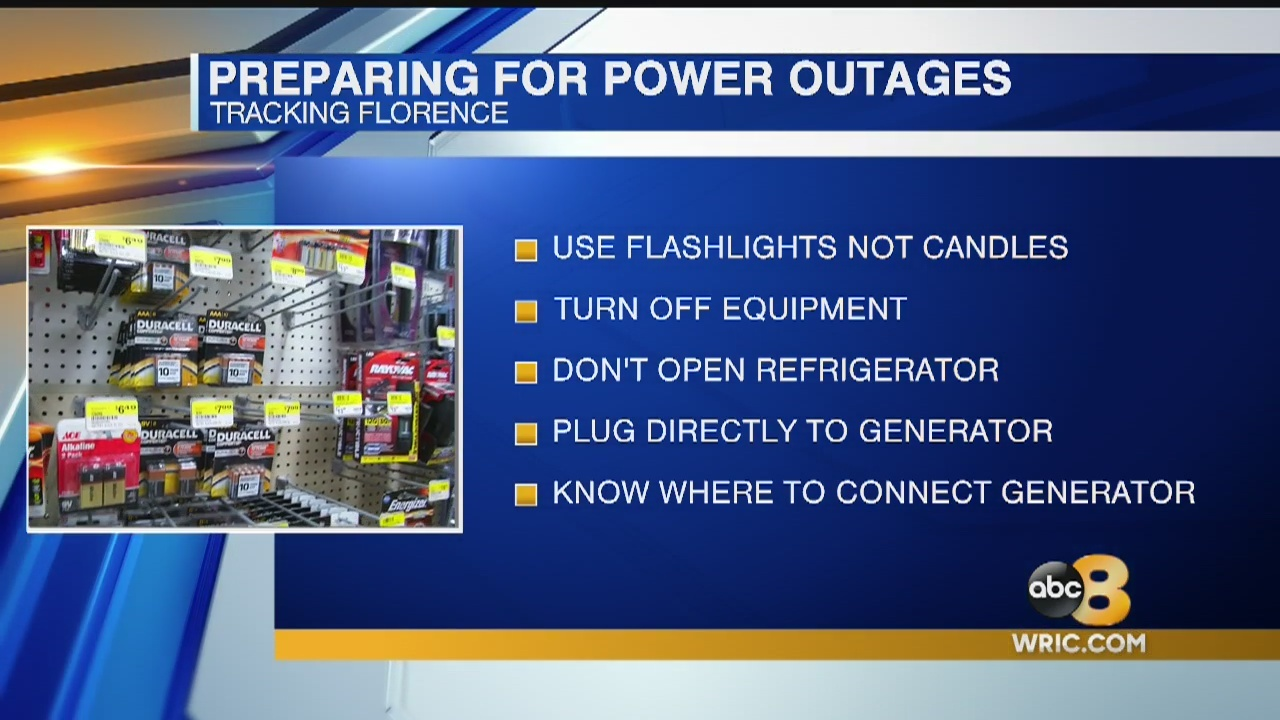 Power outages are a major concern as Hurricane Florence moves closer to the coast. Dominion and other power companies are already preparing.