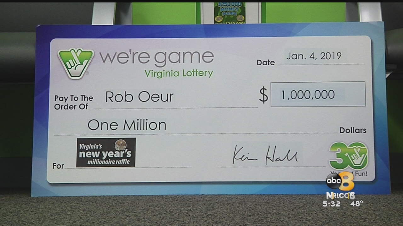 A Chesterfield man was awarded $1 million on Friday after winning the Virginia Lottery's New Year's Millionaire Raffle.