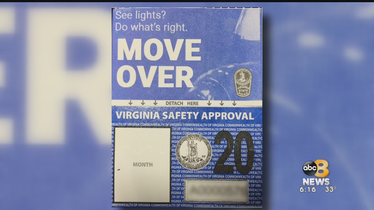 Virginia's new vehicle inspection sticker reminds drivers of