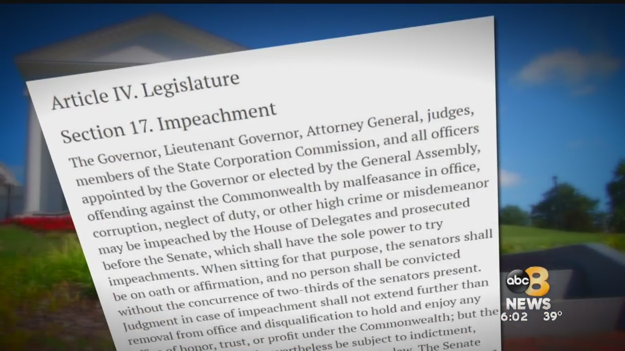 Talk of impeachment for Lt. Governor Justin Fairfax may have you wondering how that would work in Virginia. 8News dug into it. First off, it would be unprecedented.