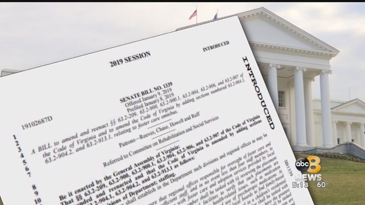 With budget amendments passed, nearly $3 million is going towards improvements for Virginia's foster care system following the 2019 Legislative Session. This comes after lawmakers reviewed a major report last year finding problems with the scope of