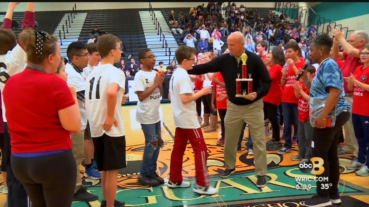 Henrico middle school students went head to head on the basketball court Wednesday. They were competing for the championship but the games were more about the players than the final score.
