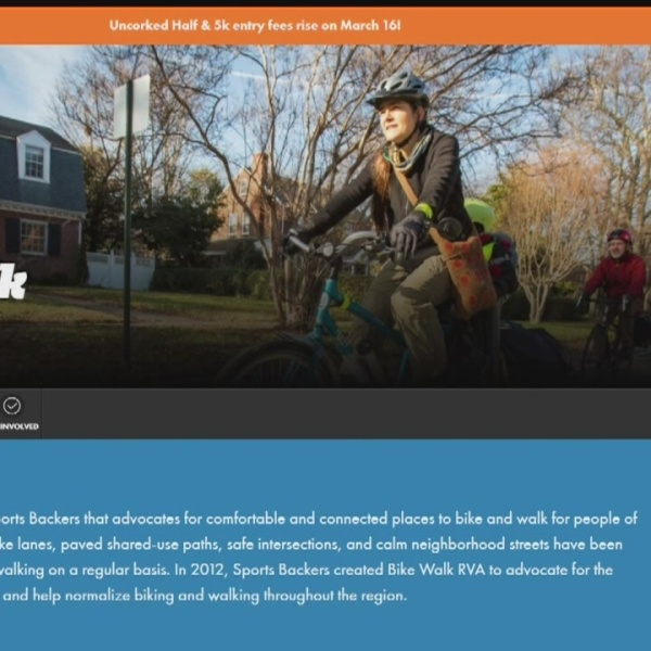 Bike Walk RVA will be among the group receiving the History Maker award