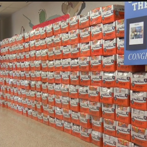 Got ramen? Hanover students collect 28,000 packs of noodles for troops
