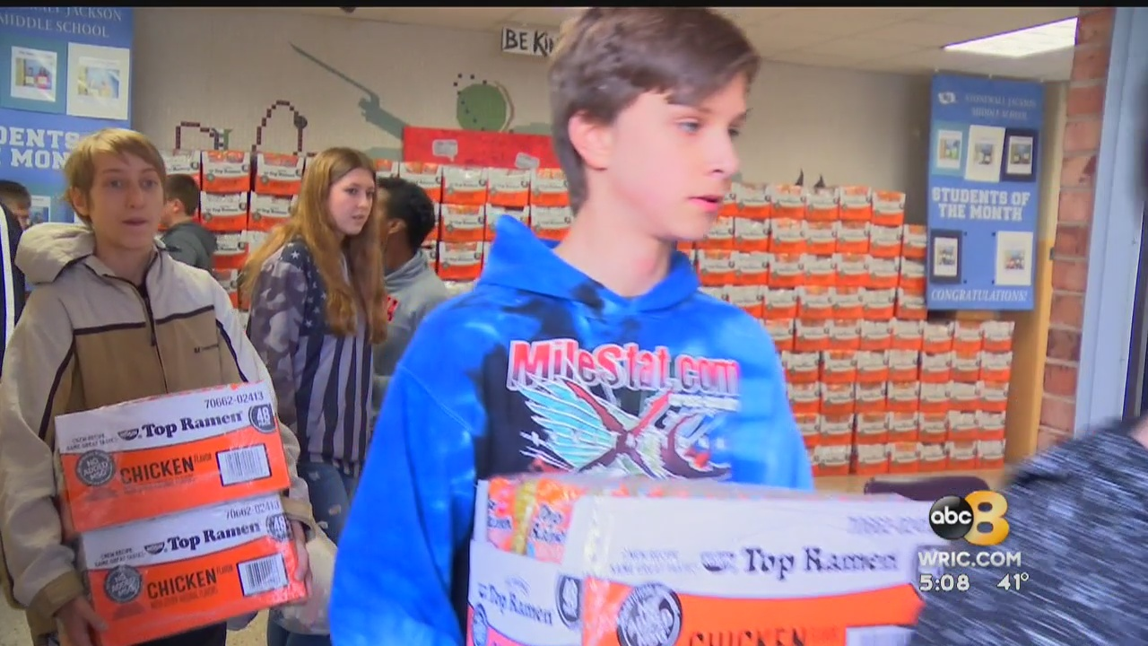Students at Hanover's Stonewall Jackson Middle School spent February living out a civics lesson.They dedicated the month to helping others.