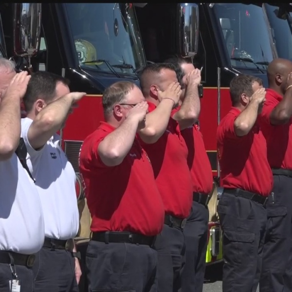 Memorial procession honors N.C. fire chief killed in Virginia