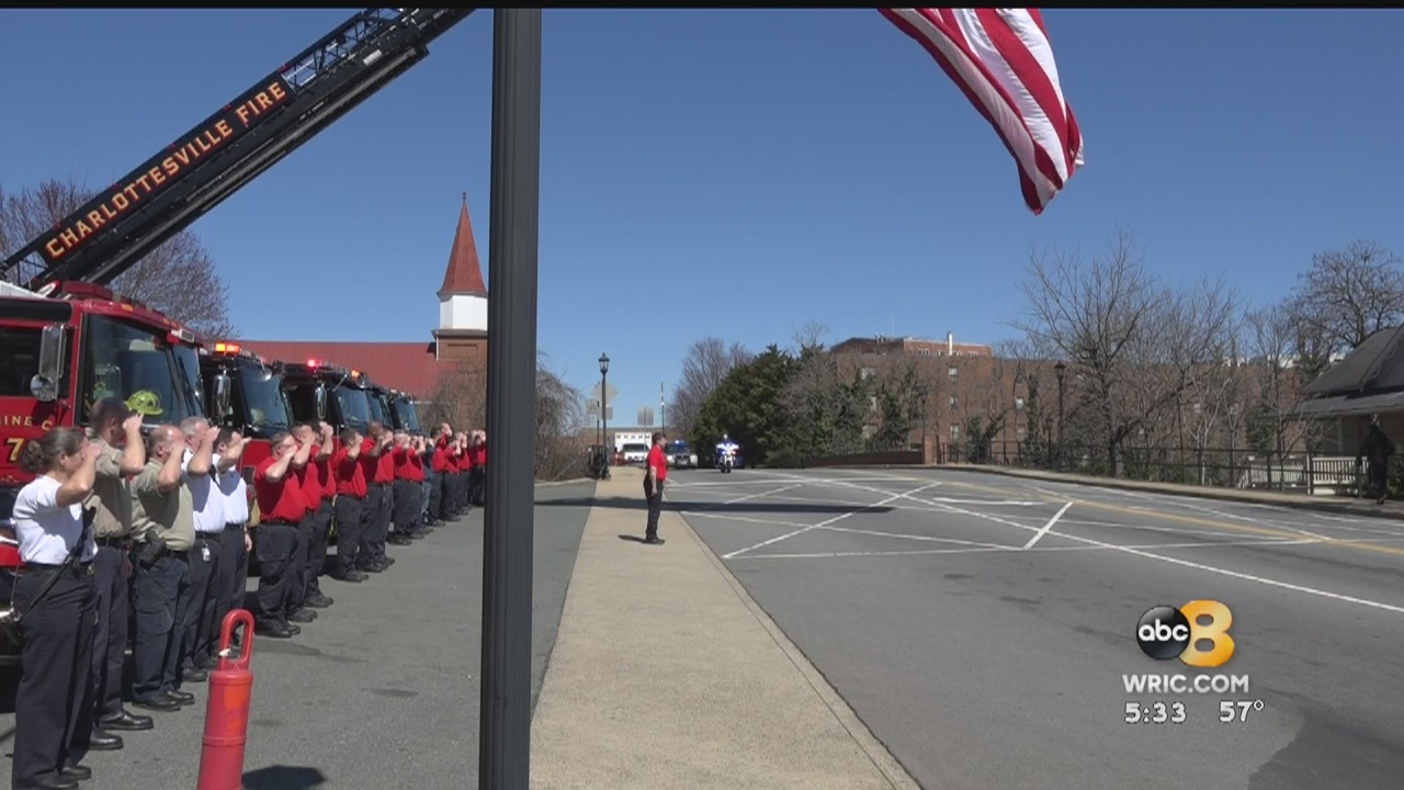 Emergency responders honored a North Carolina Fire Chief who died in Virginia over the weekend.