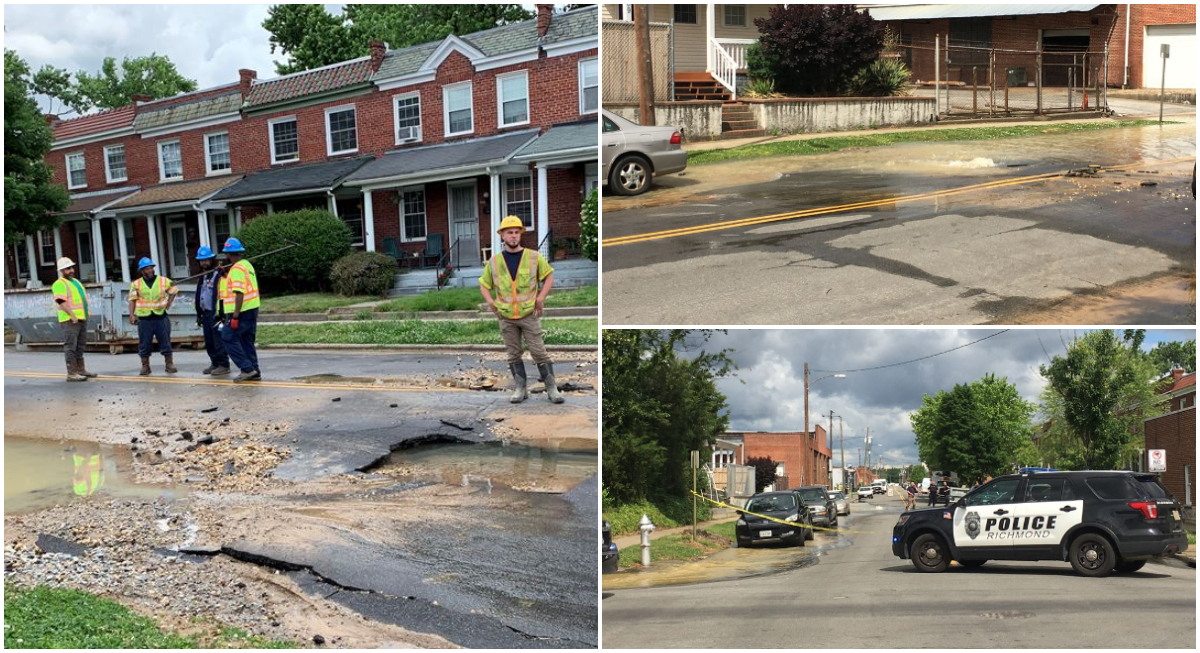 VIDEO: Water main break causes flooding, disrupts service in Scott's Addition
