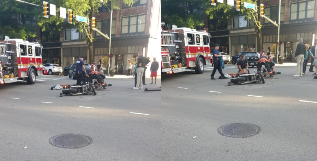 Police: Motorcyclist seriously hurt in Broad Street crash