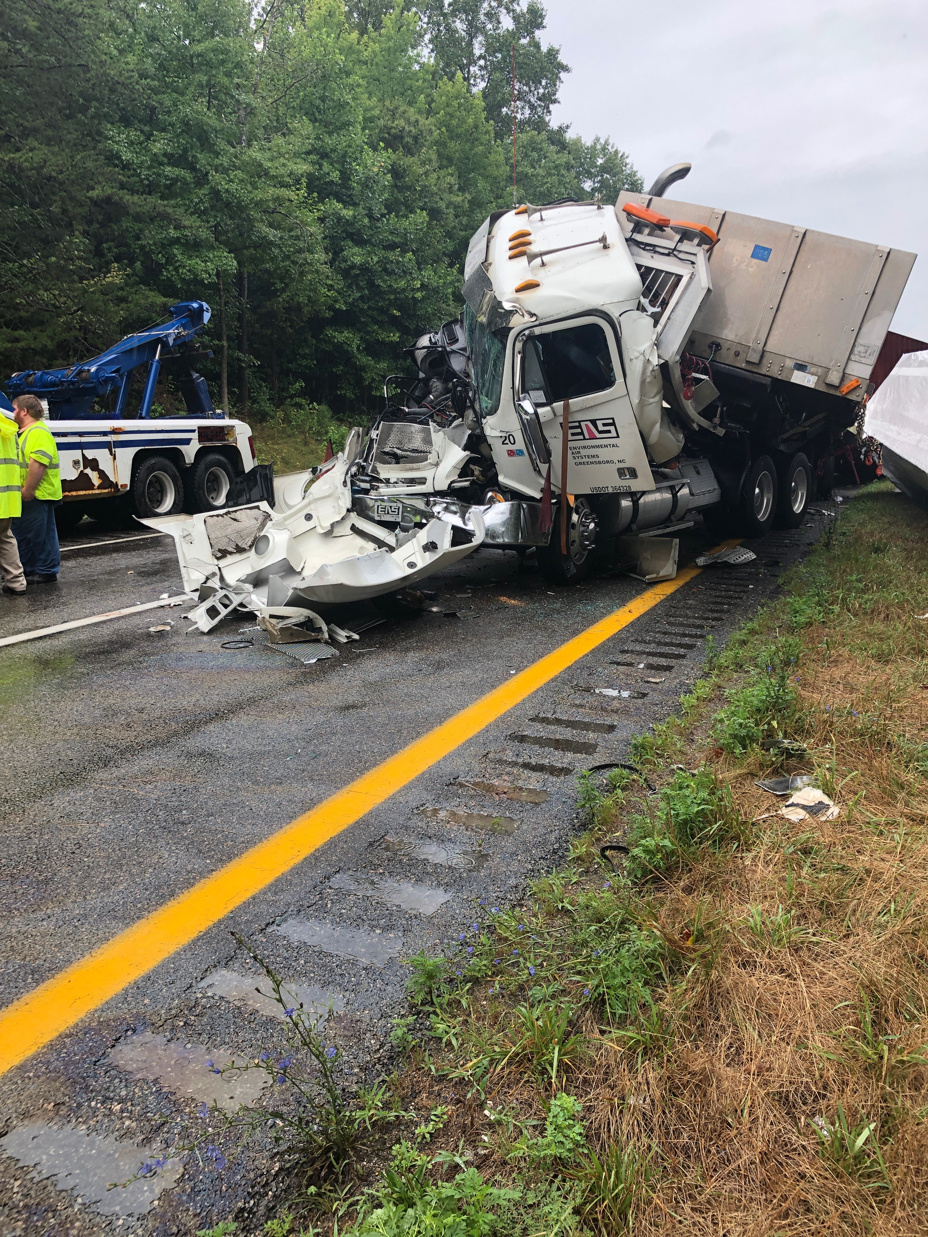 Chain-reaction crashes on I-64 in Goochland send 7 to the hospital