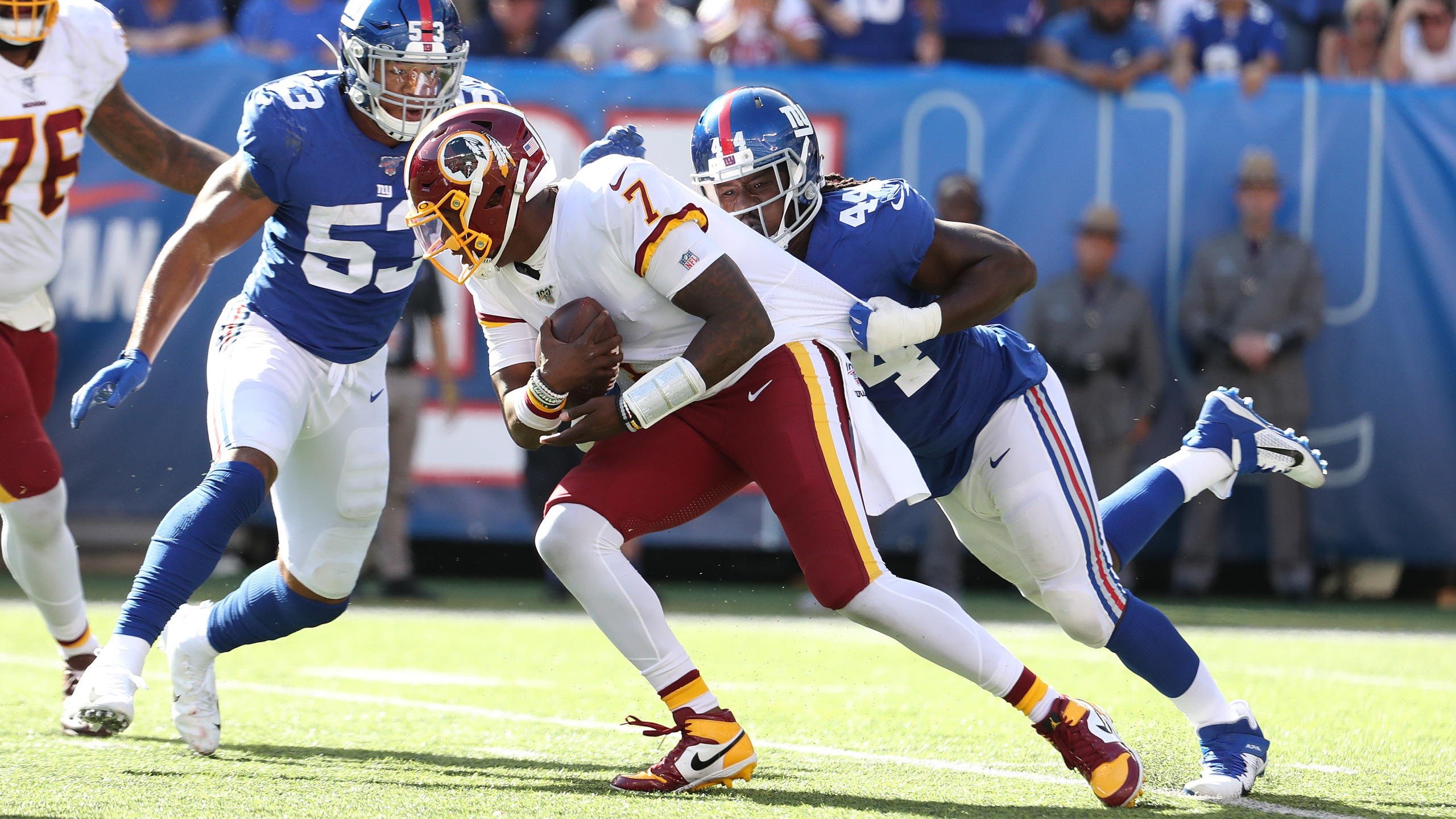 Defense Leads Giants Over Winless Redskins In Haskins Debut