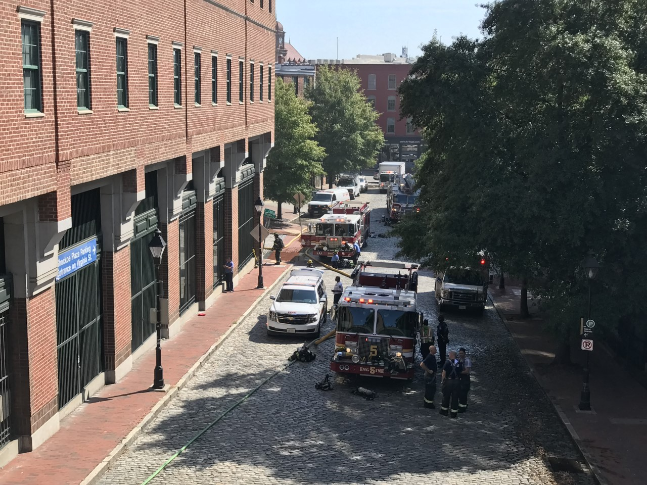 The Martin Agency evacuated after fire in parking garage