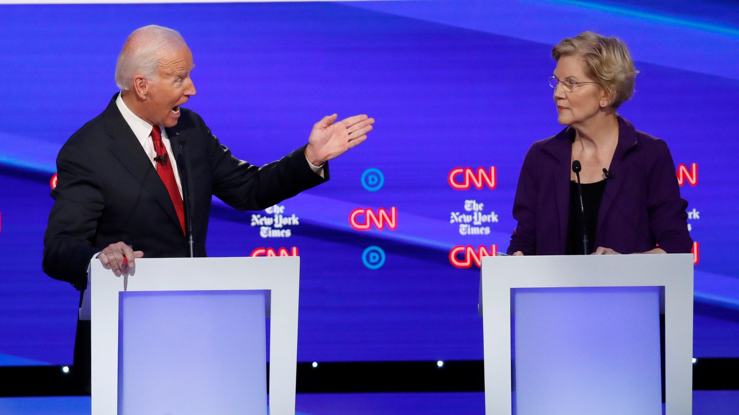 Elizabeth Warren, Joe Biden
