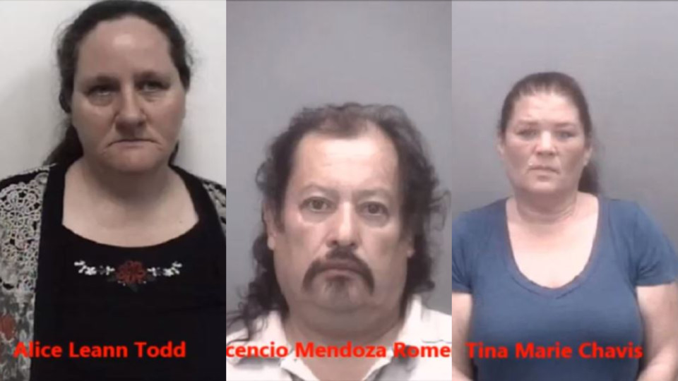 Three people are behind bars after they were accused of trading a 2-year-old for a vehicle