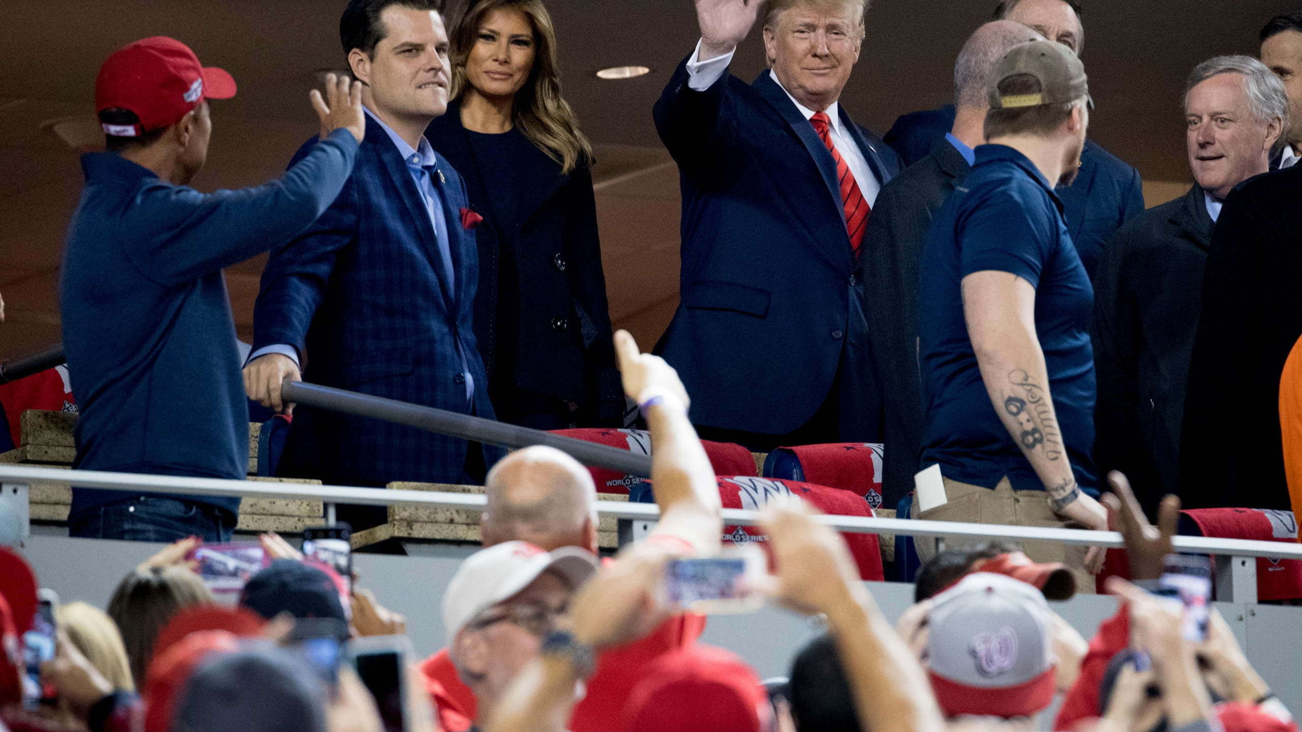 Donald Trump, Melania Trump, Matt Gaetz, Mark Meadows