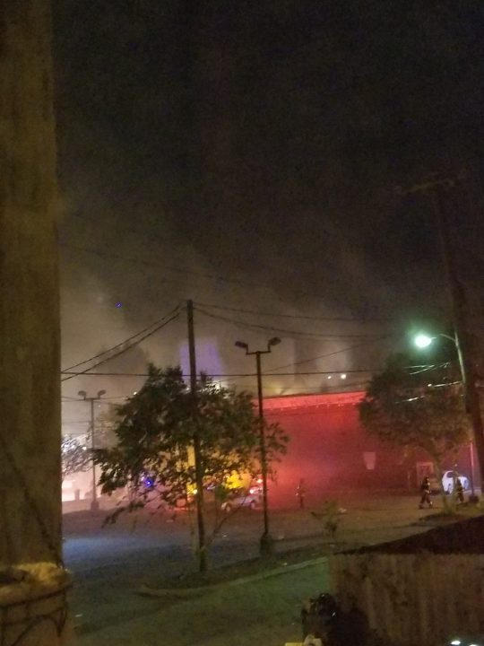 Fire at Rite Aid on the corner of Belvidere and W. Broad streets
