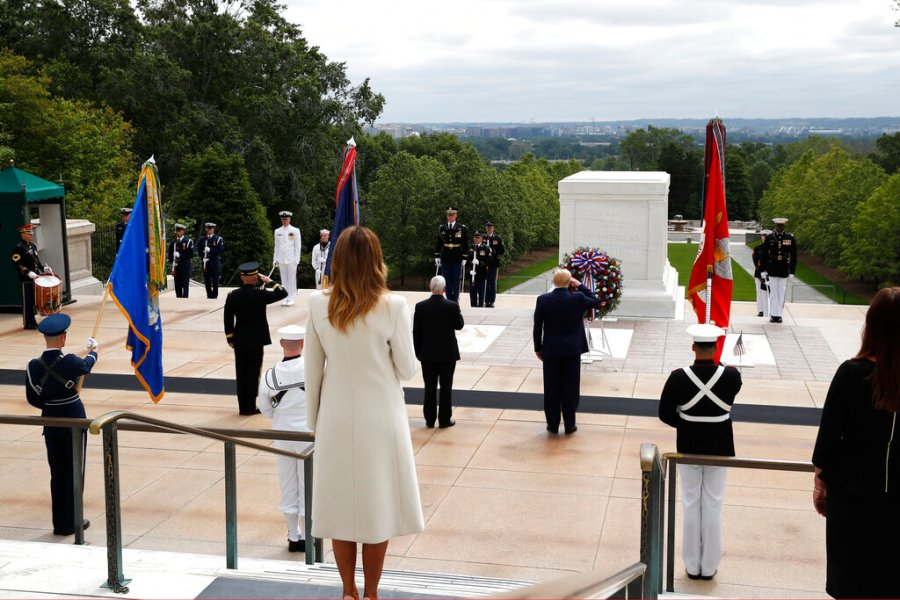 President Trump in Arlington, Virginia, on Memorial Day