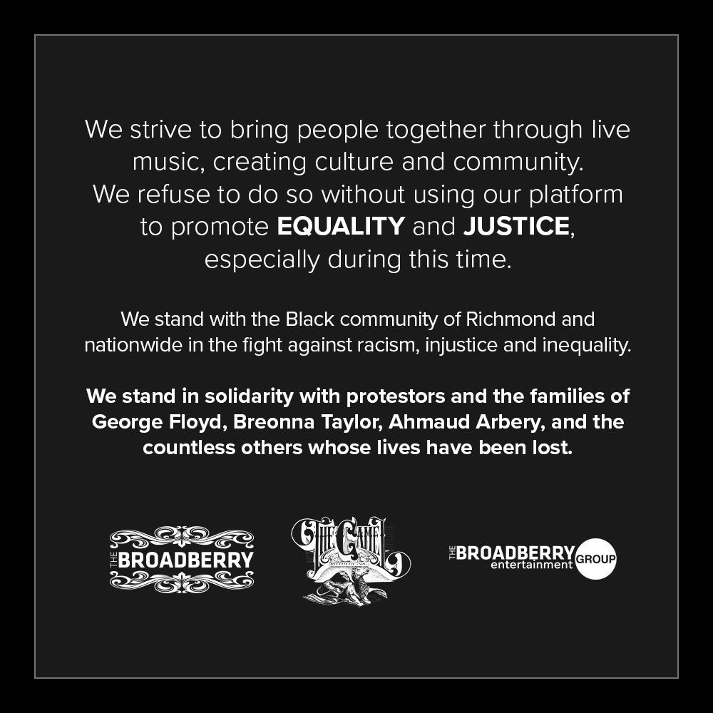 statment from RVA music venues on protests