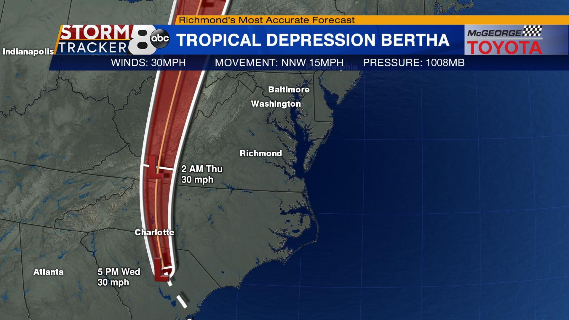 Tropical Depression Bertha