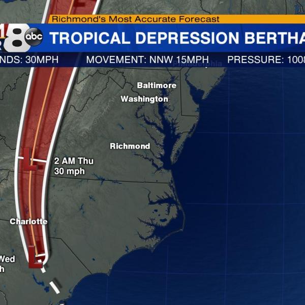 Tropical Depression Bertha