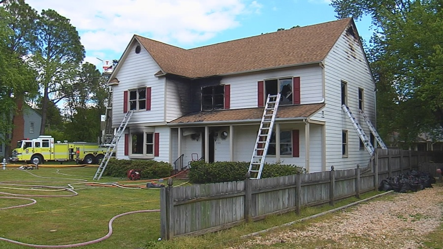 Fire on Valentine Road in Henrico County, Tuesday, May 12, 2020. (Photo: Paul Nevadomski)