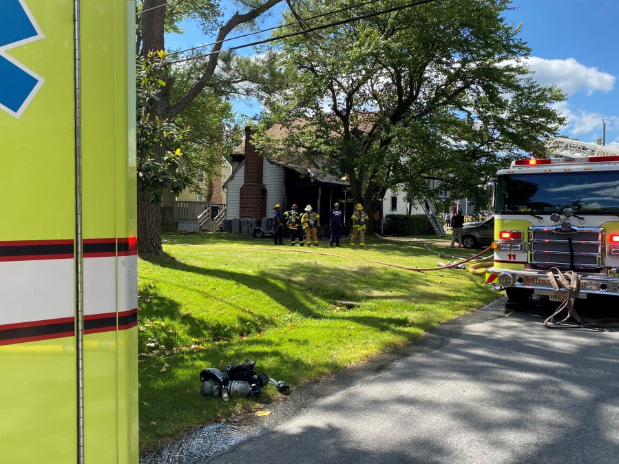 Fire on Valentine Road in Henrico County