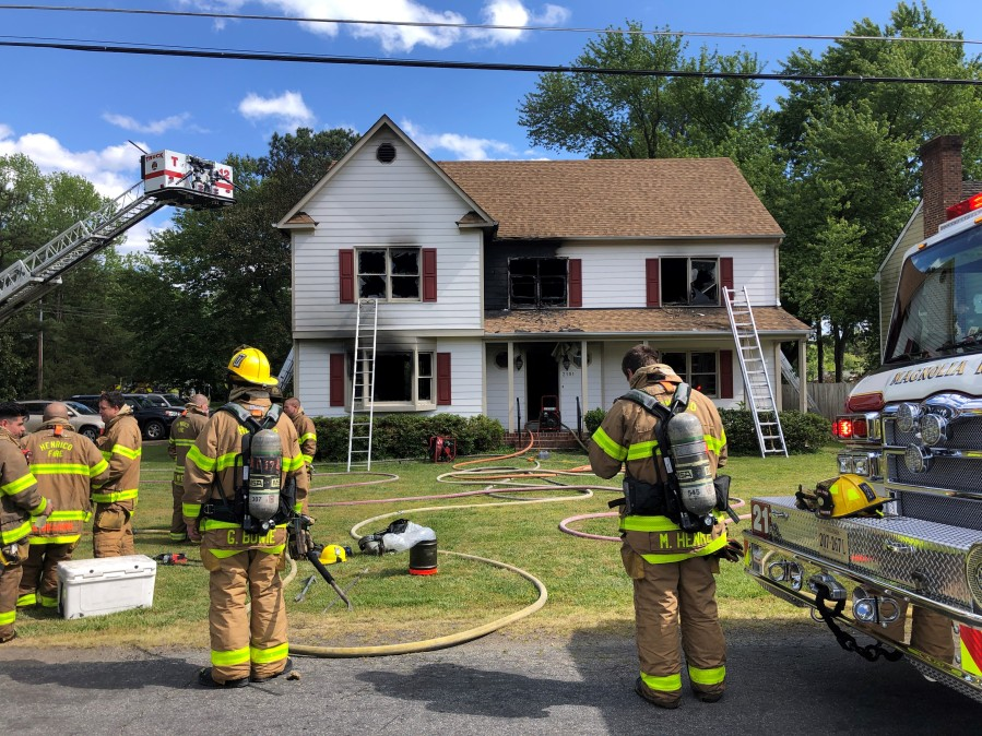 Fire on Valentine Road in Henrico County,