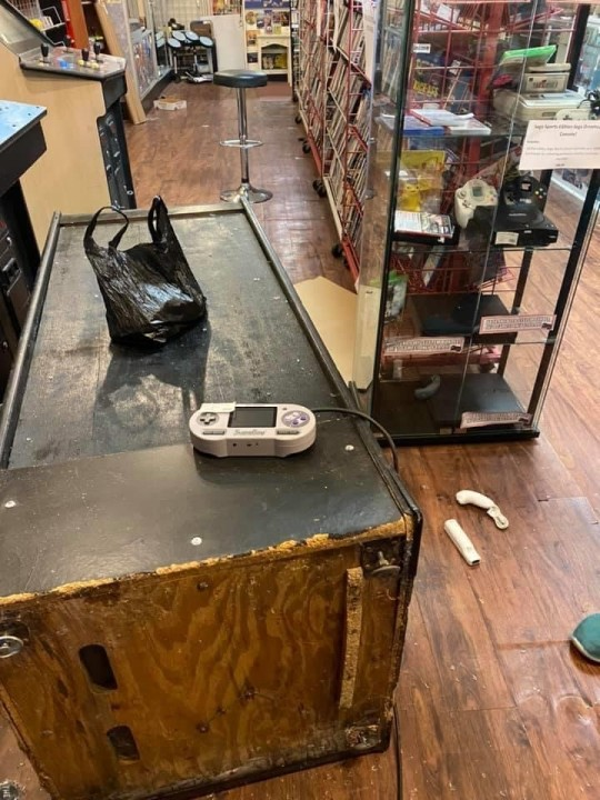 The Tech Exchange after being looted during a riot in Richmond