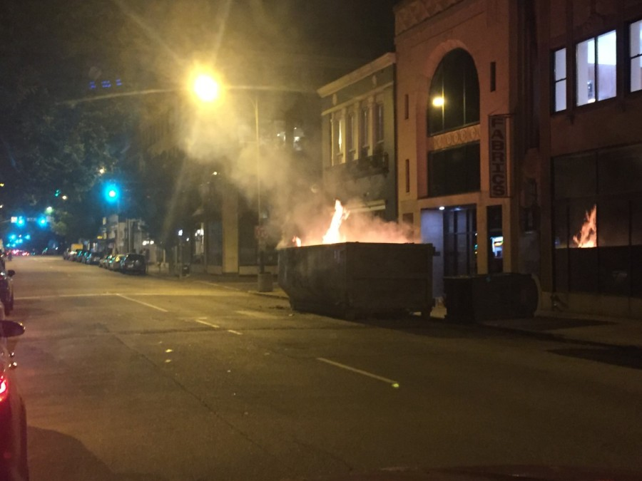 dumpster fire in RVA