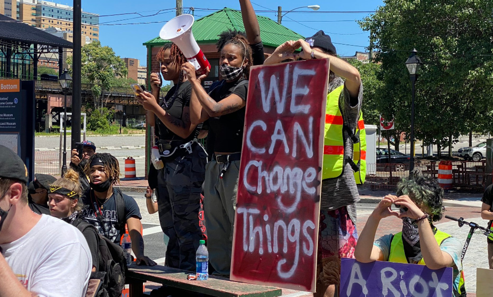 peaceful blm protesters in Richmond