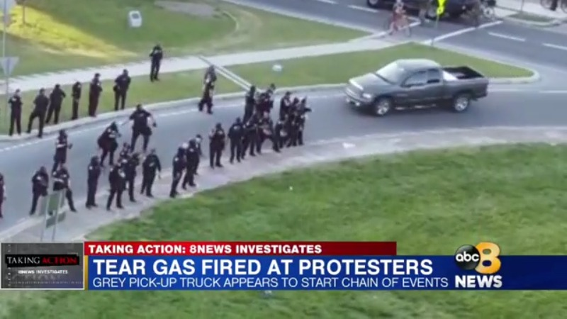 Chain of events before tear gas deployed in Richmond