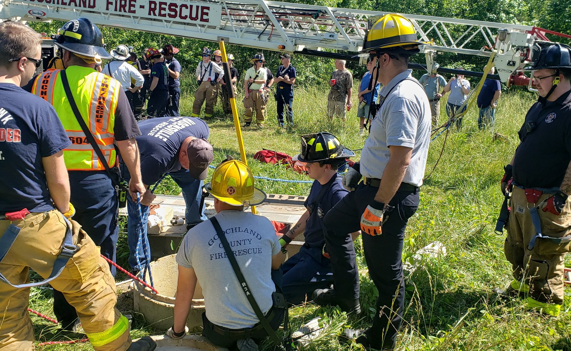 Person falls in well in Goochland County