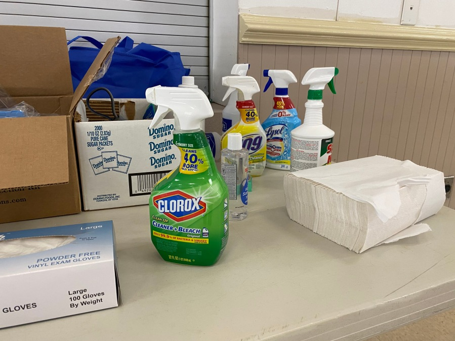 Disinfection at polling locations