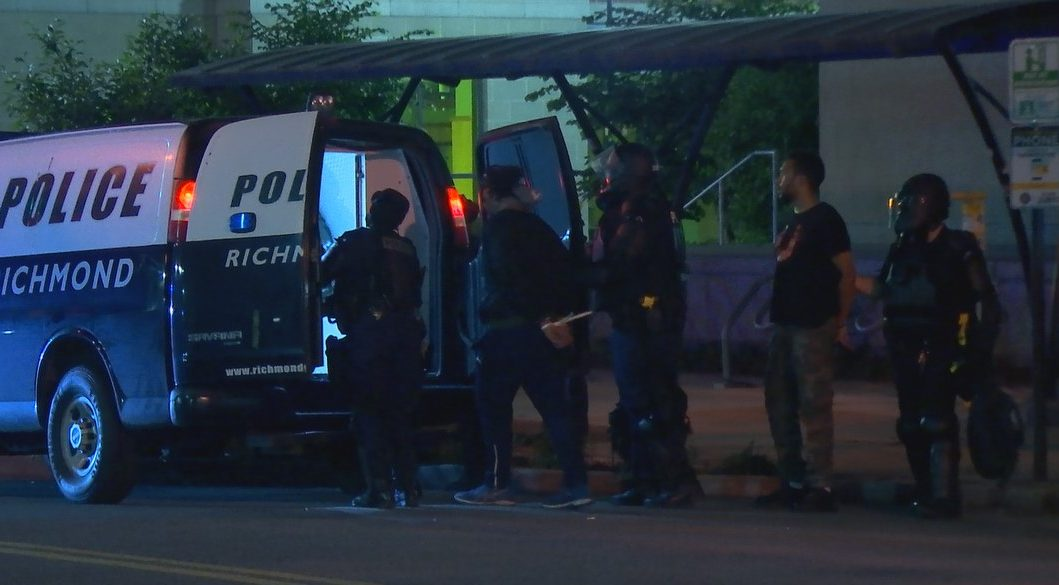 Richmond police made arrests following the citywide curfew