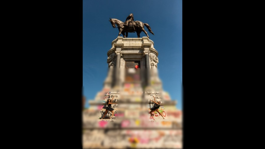 Richmond dancers come together at the Robert E. Lee monument 2
