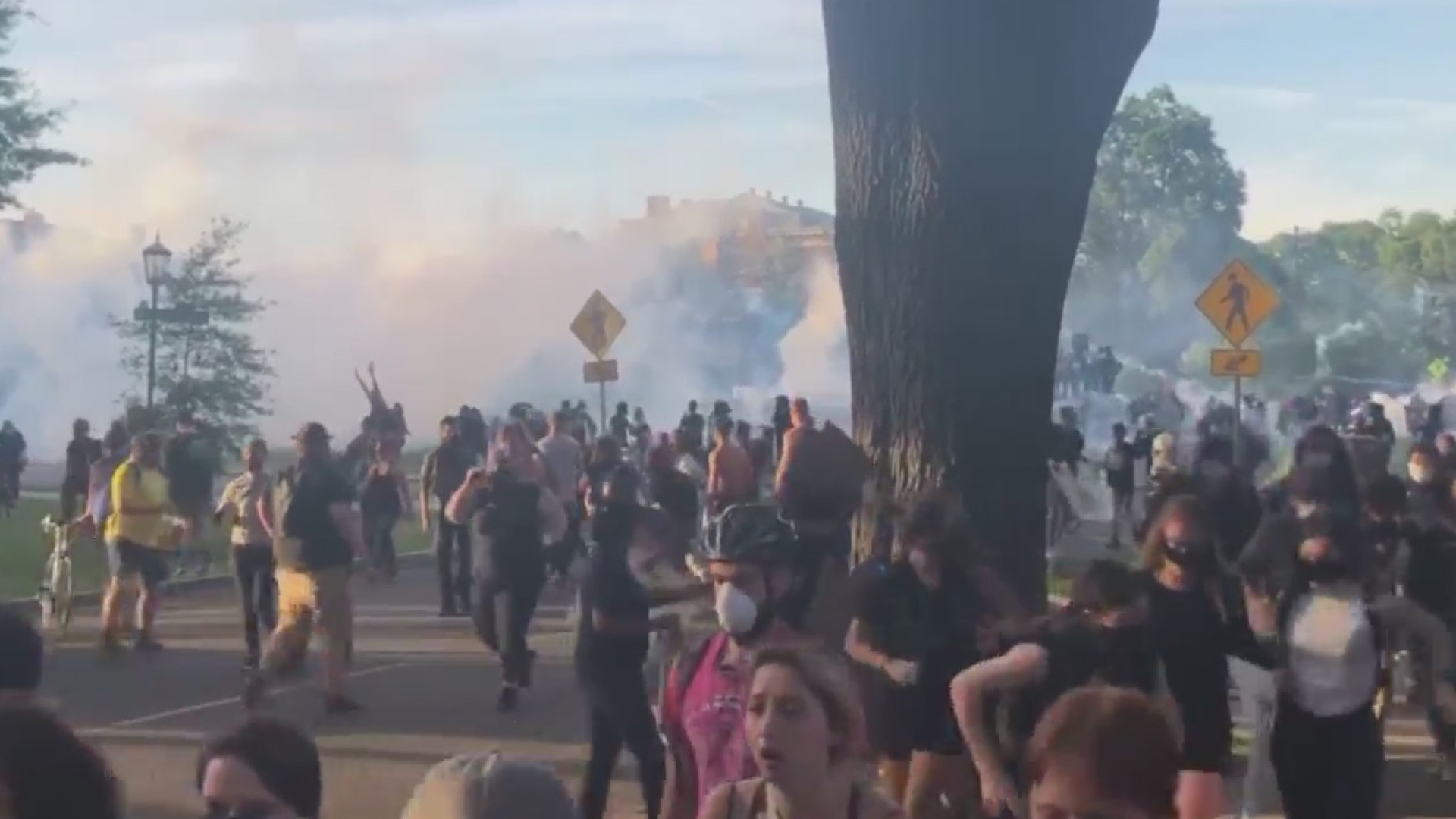 Protesters in Richmond tear-gassed