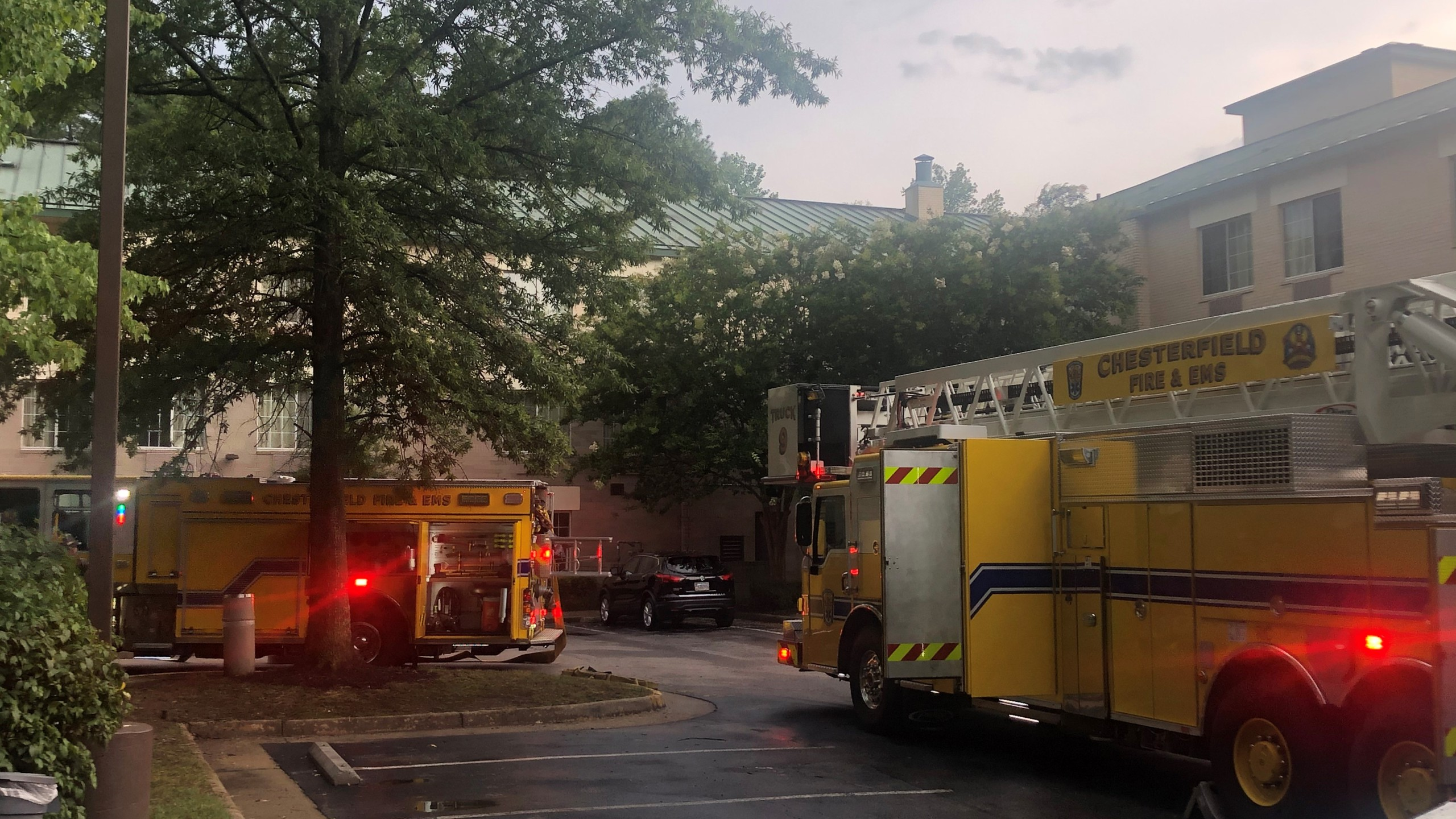 Guests evacuated from Extended Stay America near Midlothian Turnpike following fire