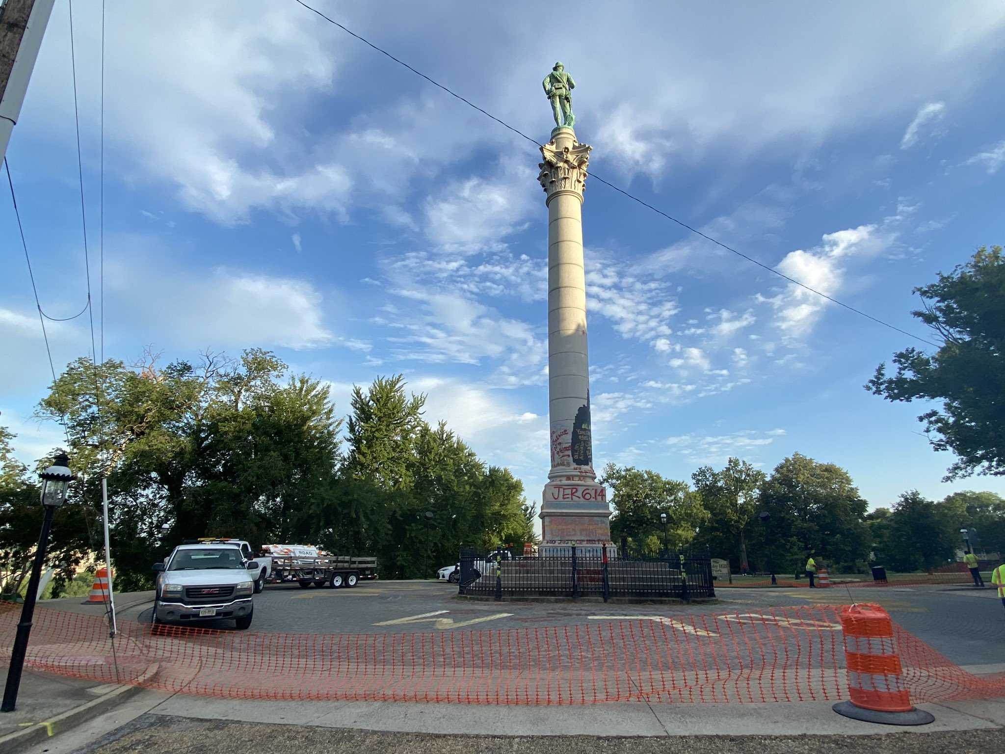 Confederate Soldiers and Sailors Monument in Church Hill