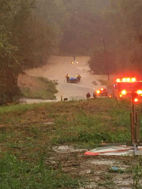 Chesterfield County Fire and Police responded to submerged vehicle on Otterdale Road