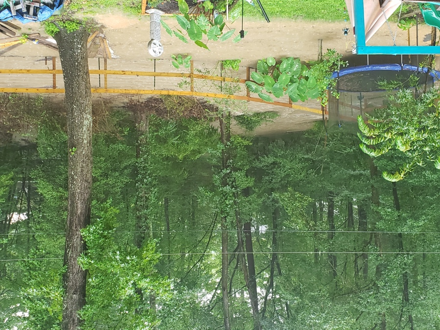 Backyard flooding in Midlothian, Virginia