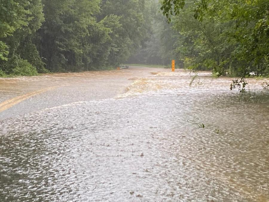 Flooding on Genito Road in Chesterfield County