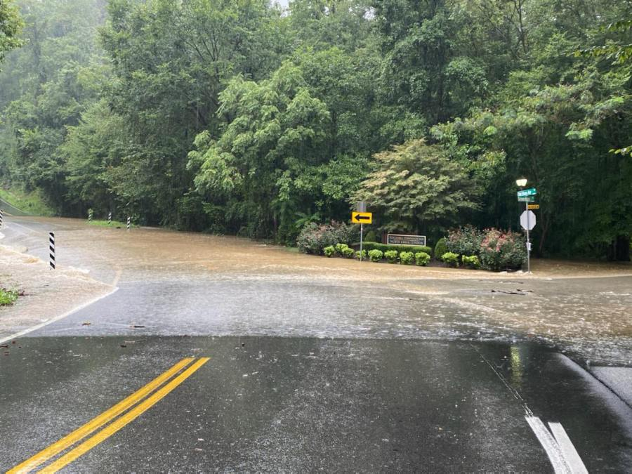 Flooding on Old Bon Air Road/Rockaway Road in Chesterfield County