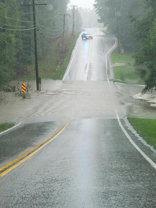 Flooding on Old Hundred Road in Chesterfield County
